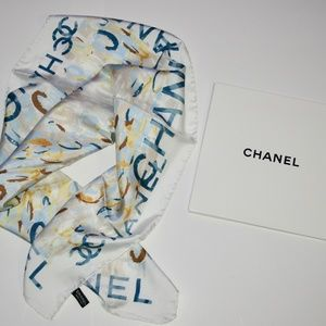 NWT 100% Authentic CHANEL Watercolour Floral Scarf